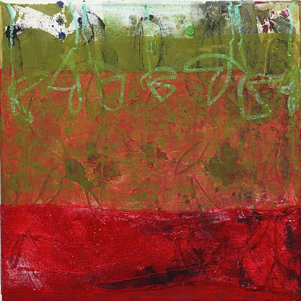 """""""Mascha unterwegs """", 2009, Mischtechnik auf Leinwand, 30x30cm"""